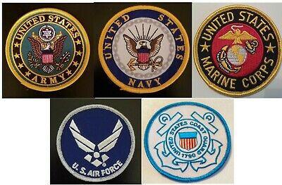 Us Army Navy Air Force Marines Coast Guard 3 Inch Round Patches!!