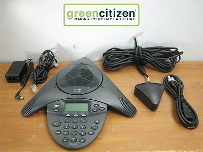 Cisco CP-7936 IP 2201-06652-602 Conference Station w/ Power Triangle & Cables