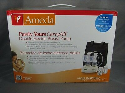 NEW Ameda Purely Yours Carry-All Double Electric Breast Pump with DVD NIB SEALED