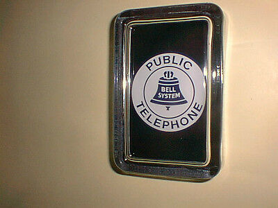 Bell System Logo Public Pay Telephone Phone  Advertising Sign Glass Paperweight