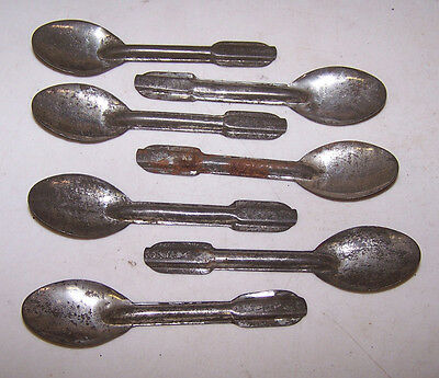 7 Vintage Tin Ice Cream Spoons - Dairy Milk Company