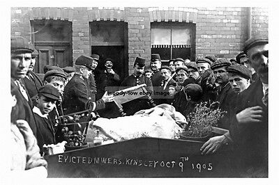 pt2474 - Evicted Miners , Kinsley , Yorkshire 1905 - photograph 6x4