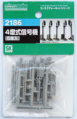 Greenmax No.2186 4-Color Train Signal Set (1/150 N scale)