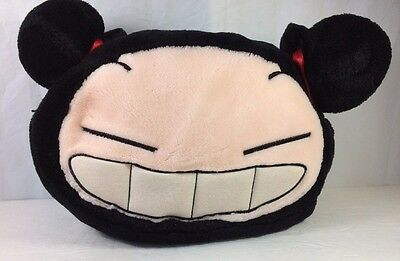 Pucca Plush Purse Handbag Tote Soft Fuzzy Big Cheesy Grin Red Hair Buns Sonokong