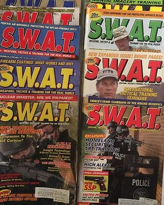 S.W.A.T. Magazine Lot of 9 Issues