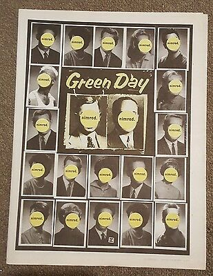 Green Day nimrod 1997 press advert Full page 30 x 40cm mini poster