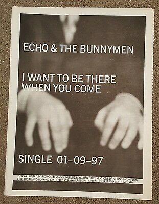 Echo Bunnymen Want to be there 1997 press advert Full page 30 x 40cm mini poster