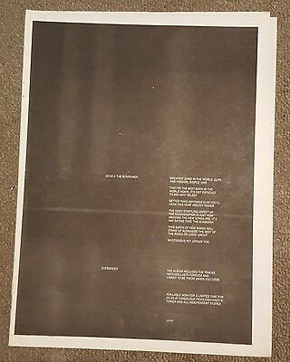Echo and Bunnymen Evergreen 1997 press advert Full page 30 x 40cm mini poster