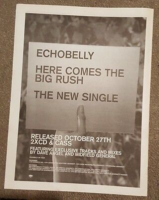 Echobelly Here comes the big 1997 press advert Full page 30 x 40cm mini poster