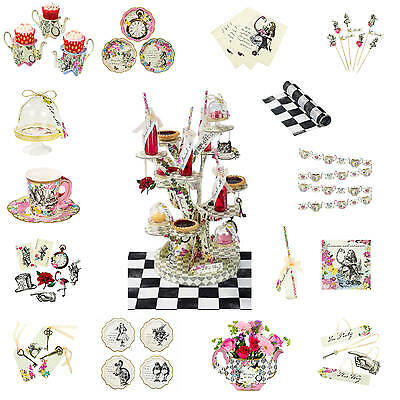 Truly Alice in Wonderland Mad Hatter Tea Party Napkins Cake Plates Bowls Cups