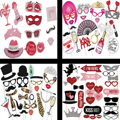 Hen Party Night Wedding Photo Booth Props Selfie Bride to Be Game on Sticks Gift