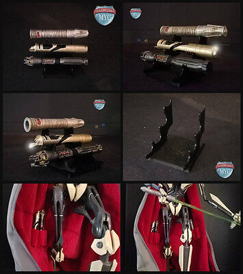 Custom Lightsabers for Sideshow Grievous Premium Format Statue exclusive & Stand