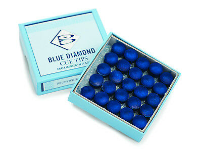 Blue Diamond Snooker or Pool Cue Tips 25 Pack Sizes From 9mm to 13mm