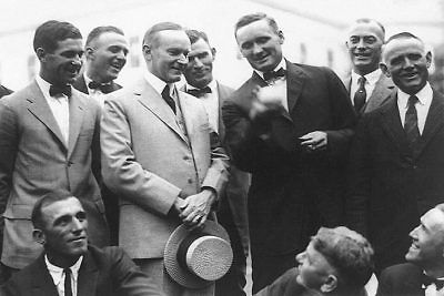 Calvin Coolidge & Walter Johnson Baseball 12x18 Silver Halide Photo Print