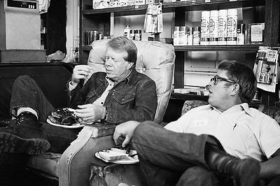 Jimmy Carter and Billy Carter Candid 1976 12x18 Silver Halide Photo Print