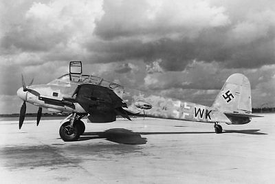 Messerschmitt Me-410 WWII Aircraft 12x18 Silver Halide Photo Print