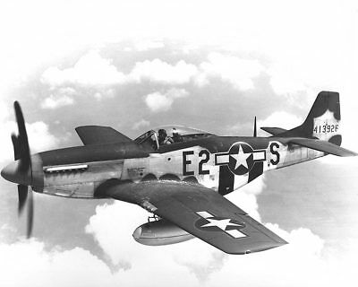 North American P-51 Mustang in Flight WWII 12x18 Silver Halide Photo Print