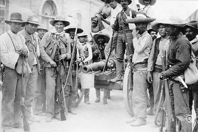 Mexican Revolution Soldiers, Juarez Mexico 12x18 Silver Halide Photo Print