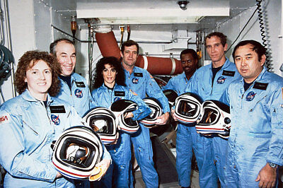 STS-51L Space Shuttle Challenger Crew 12x18 Silver Halide Photo Print