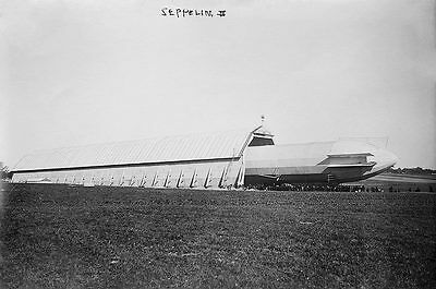 Zeppelin Airship / Blimp No. 3 Ground Shed 12x18 Silver Halide Photo PrintUSS Dw