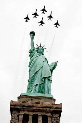 Thunderbirds & Statue of Liberty New York 12x18 Silver Halide Photo Print