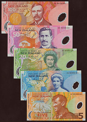 New Zealand matching numbers Set 1999 000361 in Folder  P.185-189