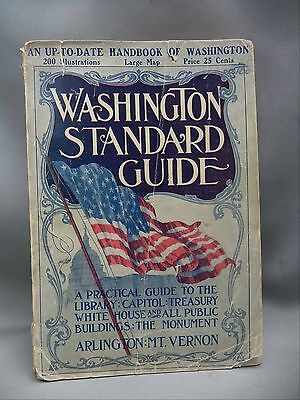 Washington Standard Guide 1912 Tourist Book With Map & Great Local Advertising