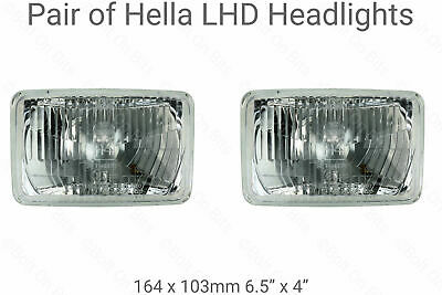 LHD Rectangular Halogen Headlights Headlamps JEEP Wrangler YJ 1995 1996 HELLA