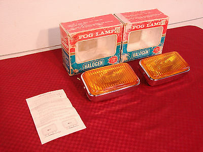 Vintage Nos Chome Fog Lights All Metal Quality Japan Vw Datsun Mg Mazda
