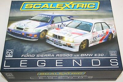 Scalextric C3693A Touring Car Legends Twinpack Ford Sierra RS500 + BMW E30 NEW