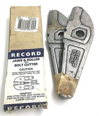 Record Replacement Bolt Cutter Jaws & Roller 930H - Made In England