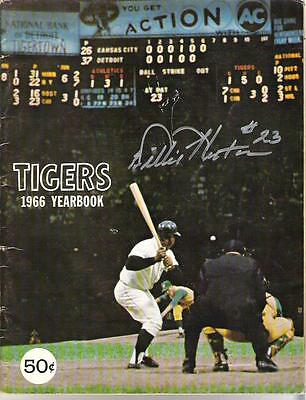 Willie Horton AUTOGRAPH 1966 Tigers Yearbook SIGNED