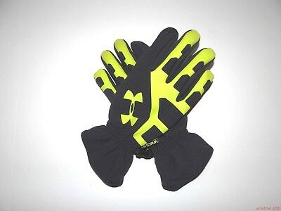 New Under Armour Youth Kids Boys UA Storm Stealth Ski Snowboard Gloves Large
