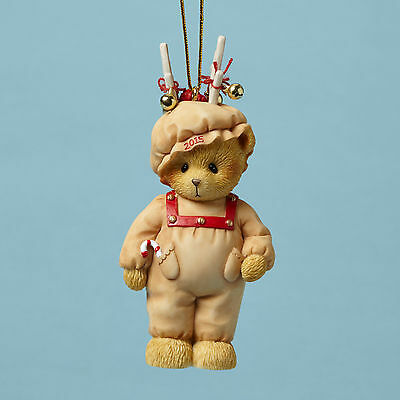 Cherished Teddies ' Ready For Reindeer Games' 2015 Christmas Ornament 4047383