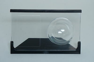 Lot of (8) Crystal Acrylic Baseball and Card Holder and Display Case