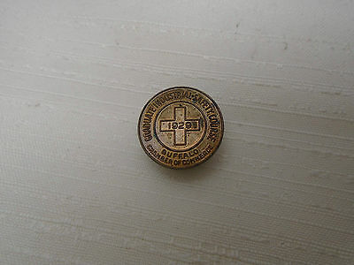 Old Lapel Pin Graduate Industrial Safety Course 1929 Buffalo Chamber of Commerce