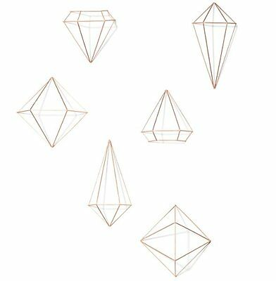 Umbra PRISMA WALL DECOR Set of 6 Geometric Pieces COPPER