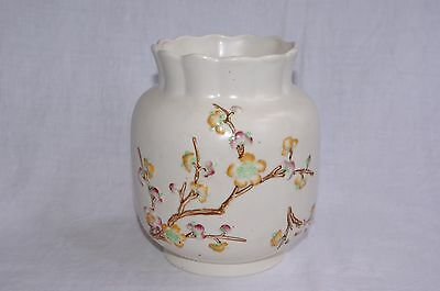 "Vintage Art Deco Shorter & Son Ltd Handpainted Floral Embossed 6.75"" Vase 372"