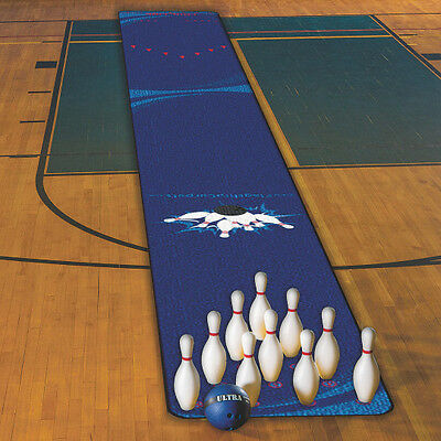 Ten Pin Bowling Package with Pins, 2.2kg Ball and 9m Long Bowling Carpet