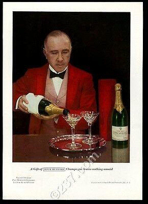 1937 Piper-Heidseick brut champagne 1926 bottle color photo vintage print ad