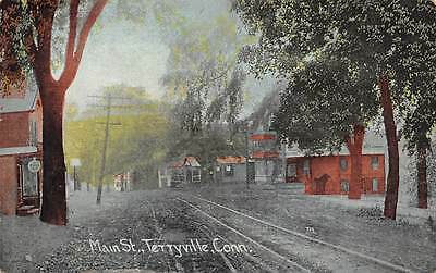 TERRYVILLE, CT ~ MAIN STREET, STORES & HOMES ~ AUGUST SCHMELZER CO PUB. ~ c.1910