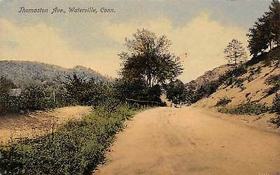 WATERVILLE, CT ~ THOMASTON AVE. ~ AUGUST SCHMELZER CO., PUB. ~ used c. 1910s