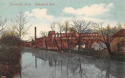 FORESTVILLE, CT ~ PEQUABUCK RIVER & FACTORY, AUGUST SCHMELZER CO. PUB ~ c.1910s
