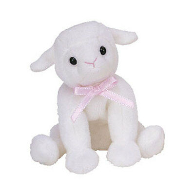 TY Basket Beanie Baby - LULLABY the Lamb (4.5 inch) - MWMTs Easter Stuffed Toy