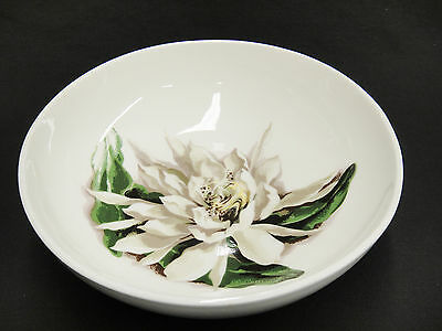 "Santa Anita Flowers of Hawaii Night Blooming Cereus 9"" Round Vegetable Bowl Good"