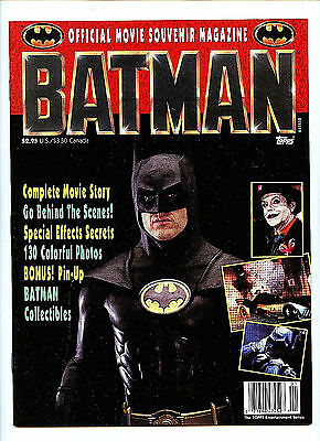 Batman Topps Official Movie Souvenir Collector's Magazine #1 New nm/m 1989 H14