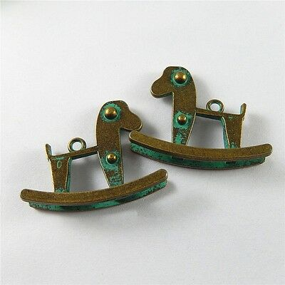 40*32mm Retro Bronze Zinc Alloy Trojan Shaped Charms Pendants Crafts Jewelry 10x