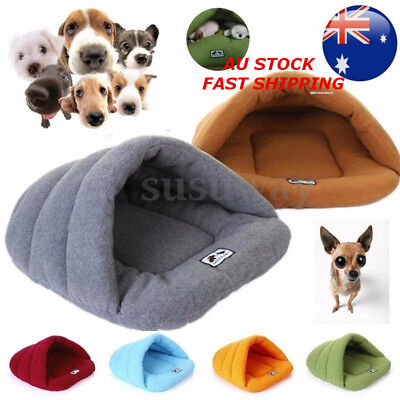 Pet House Puppy Cat Dog Nest Bed Igloo Warm Cave Washable Sleeping Bag Kennel