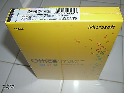 MS Microsoft Office MAC 2011 Home and Student Product Key Card (PKC)=RETAIL BOX=