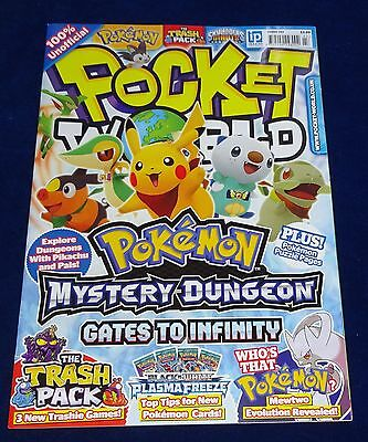 Pocket World Magazine #143;  Pokemon, Yu-Gi-Oh, Moshi Monsters, Lego Etc  Used